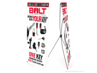 BOLT Lock Retractable X Banner