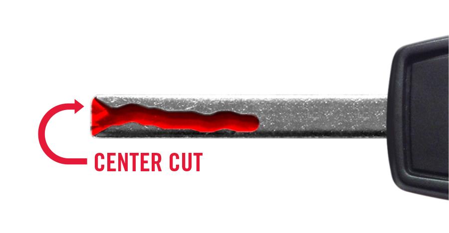 Chevrolet Side Cut Key: GM-C