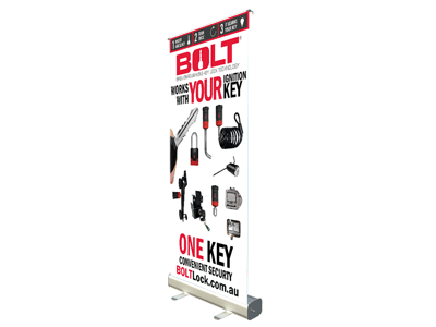 BOLT Lock Pull Up Banner